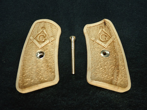 Masionic Maple Ruger Sp101 Grip Inserts