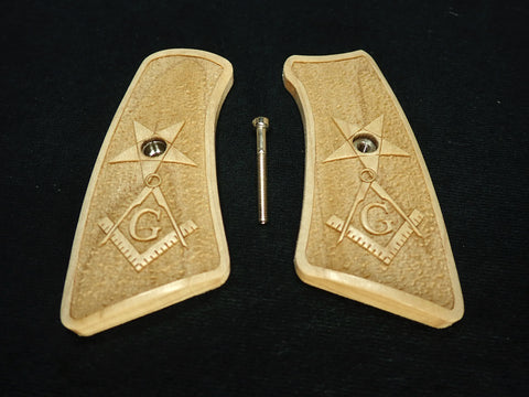 Masionic Maple Ruger Gp100 Grip Inserts
