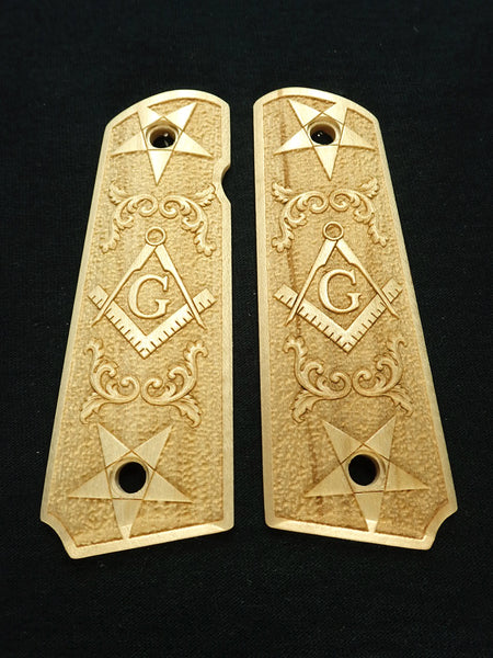 Masionic Maple 1911 Grips (Full Size)