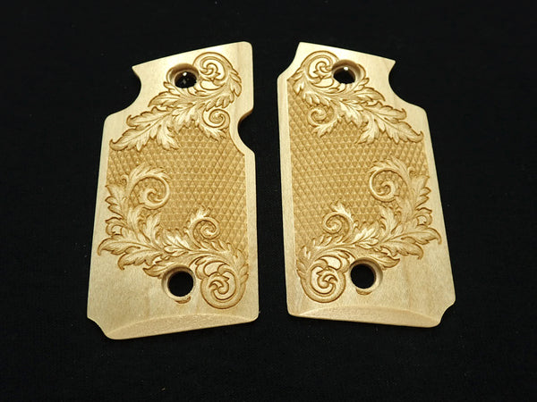 Floral Checker Maple Sig Sauer P938 Grips