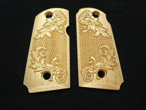 Floral Checker Maple Kimber Micro 9 Grips