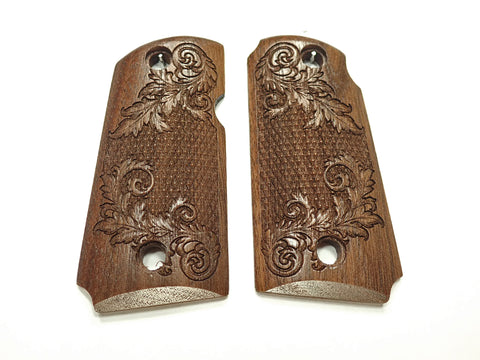 Floral Checker Walnut Kimber Micro 9 Grips