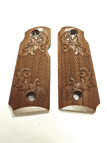 Floral Checker Walnut Kimber Micro 380 Grips