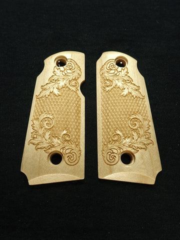 Floral Checker Maple Kimber Micro 380 Grips