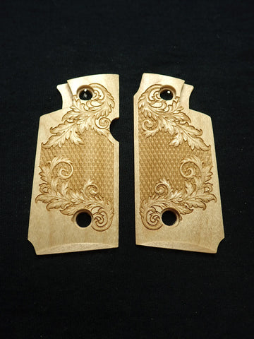 Floral Checker Maple Springfield Armory 911 .380 Grips