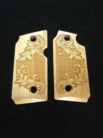 Floral Checker Maple Sig Sauer P238 Grips