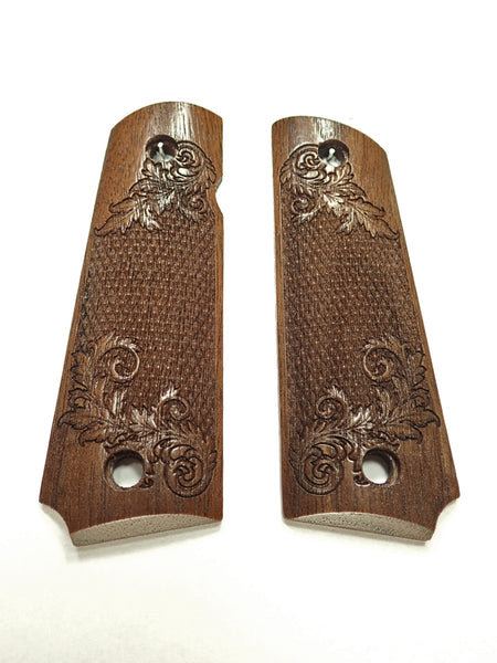 Floral Checker Walnut Browning 1911- 22/380 Grips