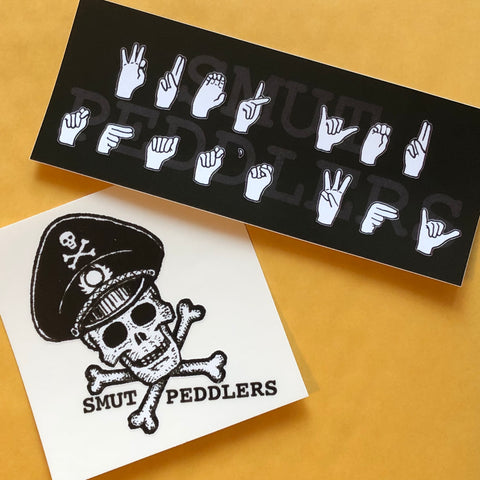 SMUT PEDDLERS skull + sign language sticker pack