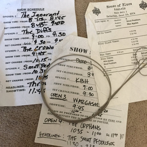 3 misc set times lists + old gish bass strings