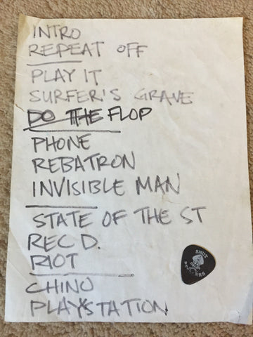 set list + used pick combo #1