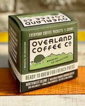 Load image into Gallery viewer, French Press Everyday Coffee Packets 5-Count Box