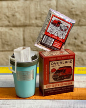 Load image into Gallery viewer, Pour Over Everyday Coffee Packets 5-Count Box and Earthwell Camp Cup