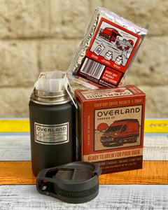 Pour Over Everyday Coffee Packets 5-Count Box and Earthwell 12oz Roaster Bottle