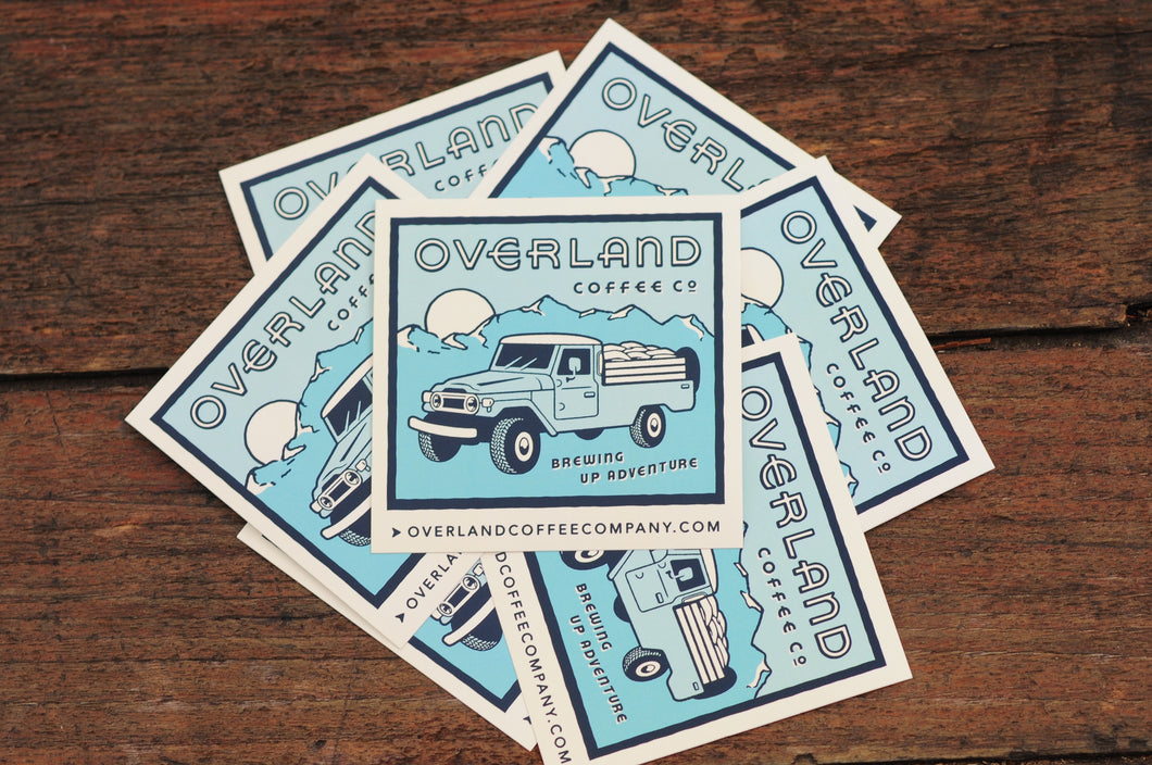 Overland Coffee Co. Sticker