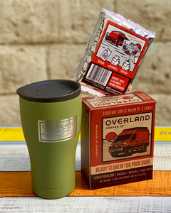 Pour Over Everyday Coffee Packets 5-Count Box and Earthwell Tumbler with Lid