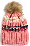 Multi Color Pom Beanie
