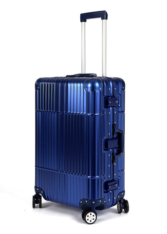 "28"" Aluminum Luggage (Blue)"