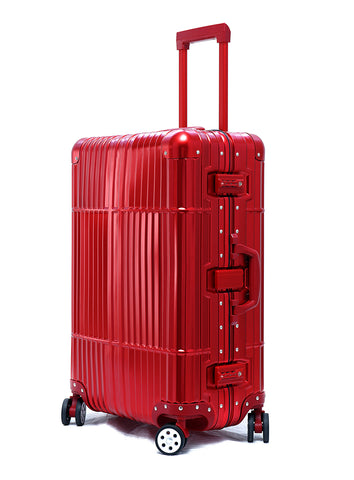 "28"" Aluminum Luggage (Red)"