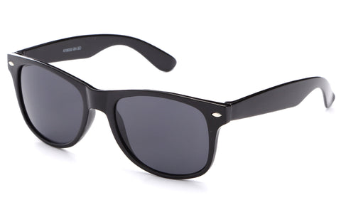 Black Horned Rim Sunglasses Smoke UV400