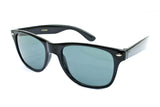 Stylish Horned Rim Wayfarer Real Glass Lens Black Frame Smoke Lens UV400 Protection.
