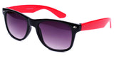 horned rim two tone black hot pink sunglasses gradient