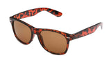 Stylish Horned Rim Wayfarer Real Glass Lens Tortoise Frame Brown Lens UV400 Protection.