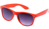 Classic Horned Rim Speckled Orange Frame with UV Protected Gradient Lens Sunglasses.