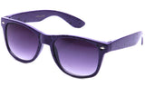 Classic Horned Rim Speckled Purple Frame with UV Protected Gradient Lens Sunglasses.