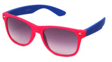 horned rim two tone hot pink blue gradient