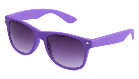 purple rubber frame horned rim gradient sunglasses
