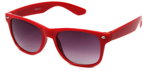 Classic Horned Rim Red Frame Gradient Lens Sunglasses