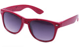 Classic Horned Rim Speckled Hot Pink Frame with UV Protected Gradient Lens Sunglasses.