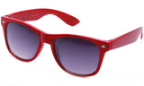 Classic Horned Rim Speckled Red Frame with UV Protected Gradient Lens Sunglasses.