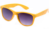 Classic Horned Rim Speckled Yellow Frame with UV Protected Gradient Lens Sunglasses.