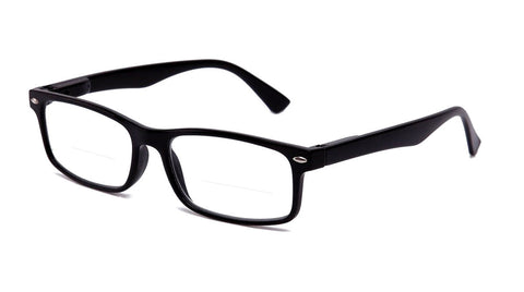 """Snow Bifocal"" Squared Frames Bottom Half Readers"