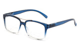 """Rafael"" Bifocal Squared Frames Bottom Half Readers"