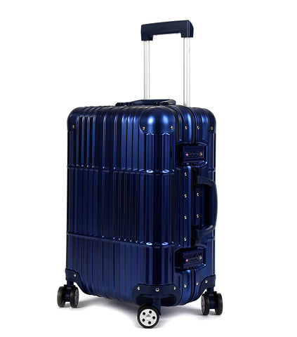"20"" Aluminum Luggage Carry-On (Blue)"