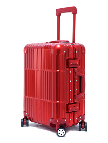 "20"" Aluminum Luggage Carry-On (Red)"