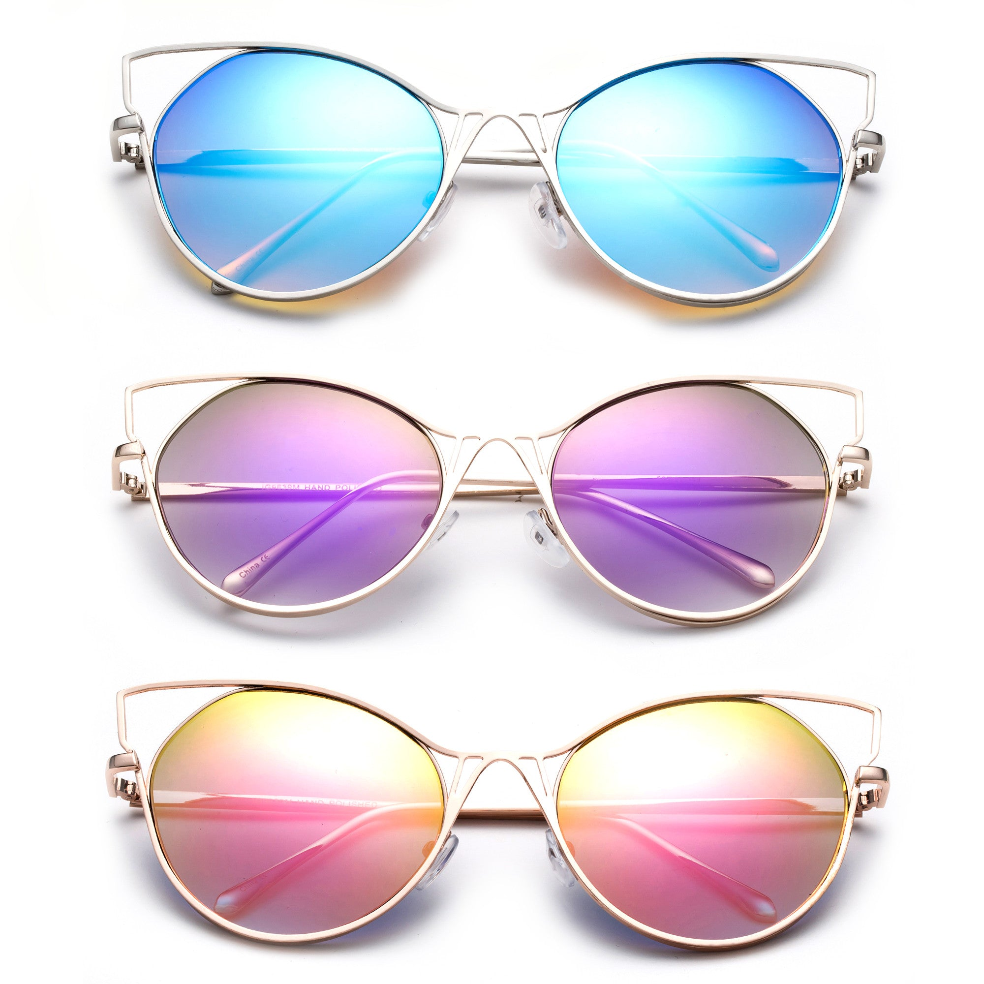 2017 Cateye Style modern look with reflective polarized lenses