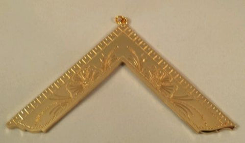 Freemason Worshipful Master Officer Collar Jewel in Gold Tone