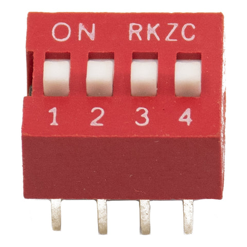 4 Positions DIP Switch