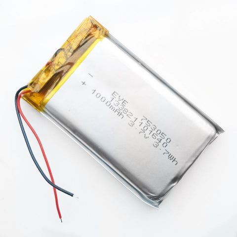 LiPo Rechargeable 3.7V 1000mAh Battery Cell