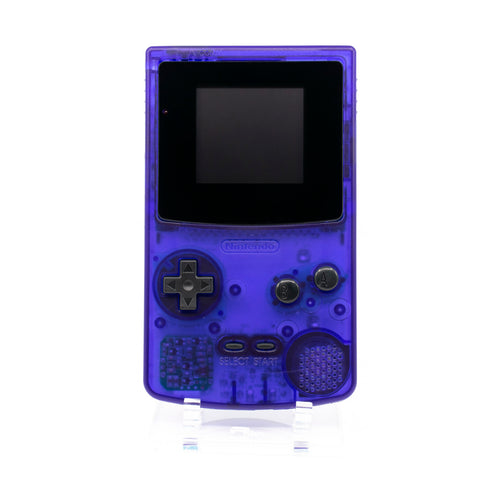Backlit CGB - Clear Purple Shell, Black Buttons and Lens