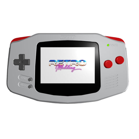 IPS LCD Modded GBA - NES-Themed