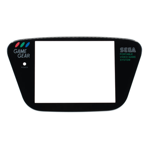 Black Sega Game Gear Glass Screen Lens