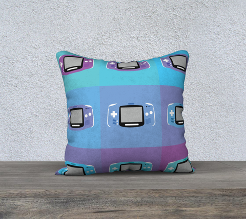 Gameboy Advance Pillow (Purple Pattern)