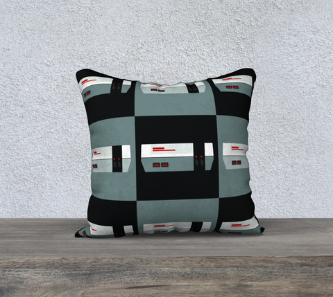 Nintendo Pillow (Black/Gray Pattern)