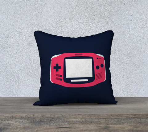 Gameboy Advance Pillow (Dark Blue)