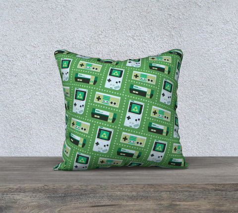 Nintendo Consoles, Zelda Pattern Pillow (Green)