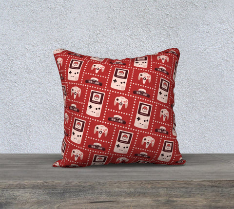 Nintendo Consoles, Pokeball Pattern Pillow (Red)
